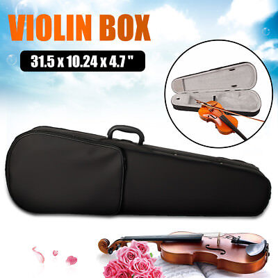Portable Professional Violin Case Bag Fit Student Cloth Fluff Black Triangle 4/4