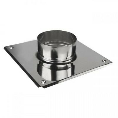 Stainless Steel Chimney Top Plate with Flange Collar Ceiling Support Plate KJ07