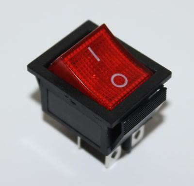 Interruttore A 16A/250V Bipolare Luminoso On/off 4 Pin Rosso Illuminato Icp