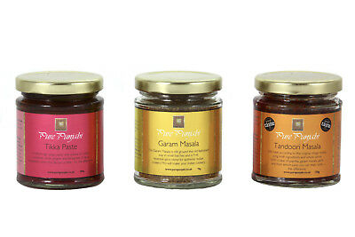 Pure Punjabi Spice Jars Collection of Garam Masala, Tandoori Masala, Tikka Paste