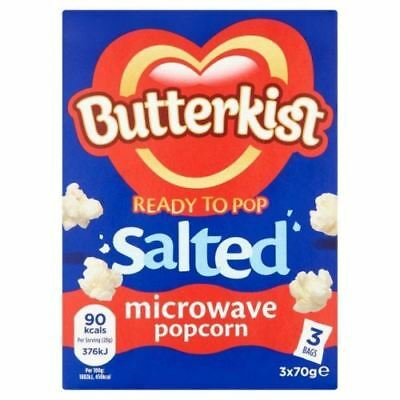 Butterkist Ready To Pop Salted Microwave Popcorn, 210 g