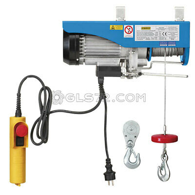 Electric Winch Hoist Crane Scaffold Cable Lifting Lift 200 / 400Kg Fervi 0600