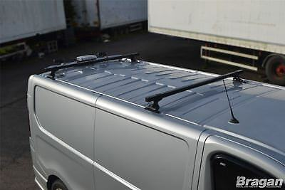 To Fit 2014+ Nissan NV300 2 Bar Roof Rack Metal Bars Rails Van + Load Stops