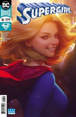 Supergirl Issue 16 - Stanley Artgerm Lau Variant Cover - Dc Comics Rebirth