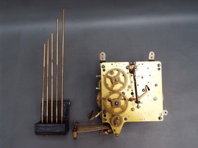 Vintage Haller mantel clock movement and chime for repair or spares
