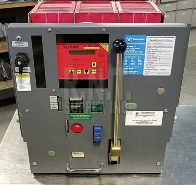 Westinghouse DS416H 1600A Frame/Sensors/Rating Plug Drawout LVACB LSIG Functions
