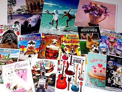OFFER OF THE YEAR! 15p! 300 TRACKS GREETINGS CARDS,  50 designs x 6 each WRAPPED