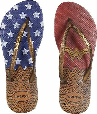3999f377f30d24 HAVAIANAS WOMEN S SLIM Wonder Woman Flip-Flops Rose Gold 35-36 M Bra ...