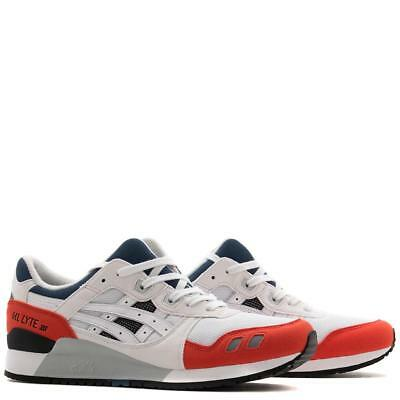 c16cb6e4d9c0 asics GEL-LYTE III WHITE PLATINUM ORANGE BLACK US MENS SIZES H819Y.0101
