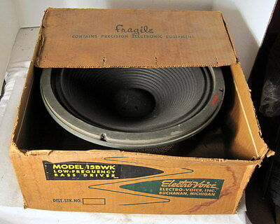 Electro Voice EV 15BWK 15in Woofer Low Frequency Driver==Original Box