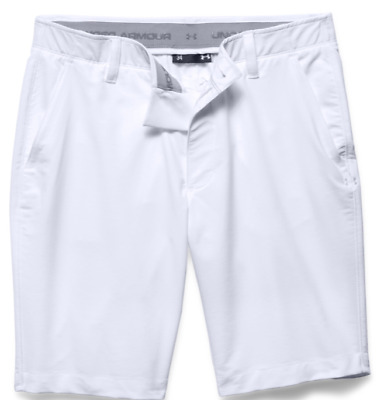 New Men's Under Armour 2017 Match Play Golf Shorts - white
