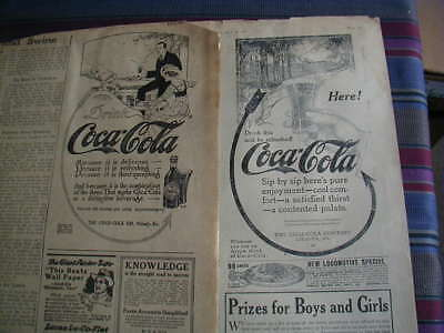 lot of 2 coca cola magazine print ads 1914 1915 nice clean ad FREE SHIPPING