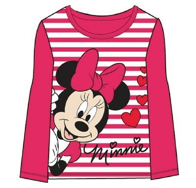 Wholesale Job Lot 45 x NEW Disney MINNIE MOUSE Long-Sleeved Pink T-Shirts
