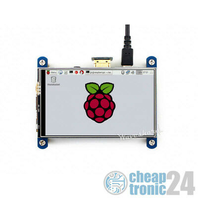 "Waveshare 4"" IPS Resitiv Touchscreen HDMI 800×480 HAT für Raspberry Pi"