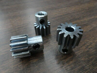 """Lot of (3) Spur Gears 20 Pitch, 20.000 Deg Angle, Bore 1/4"""", Teeth 13, .65"""" PD"""