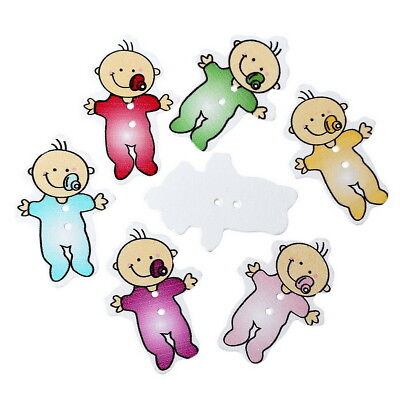 10 x CUTE BABY BUTTONS,  40 x 26mm, TWO HOLE  -  SAME DAY **FREE**  POSTAGE
