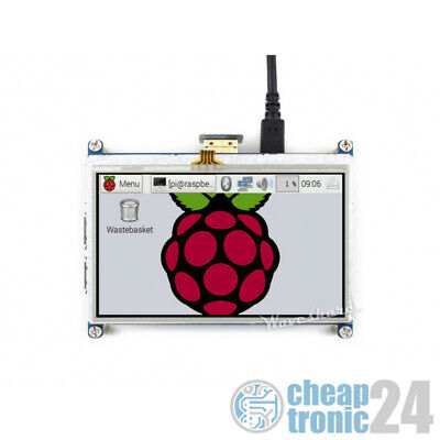 "Waveshare 4,3"" Touchscreen Resistiv HDMI 480×272 Hat für Raspberry Pi Display LC"