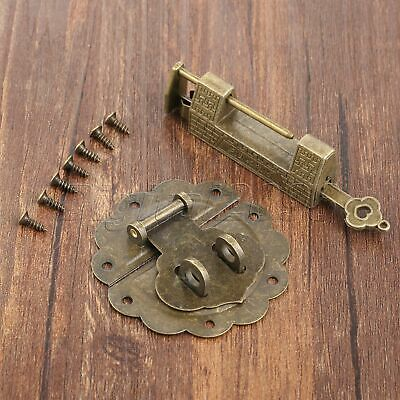 Classic Decor Padlock & Box Latch Hasp Catch Set For Jewelry Box Chest Hardware