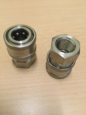 "2- Power Pressure Washer Fitting 1/4"" FPT Female 1/4 Stainless Quick Connect"