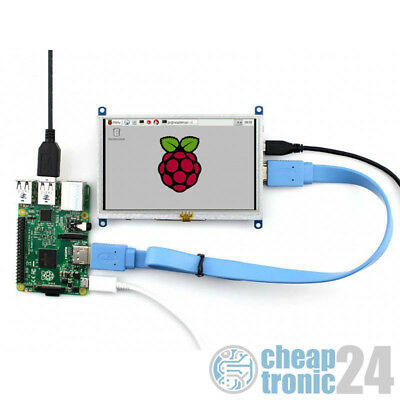 "Waveshare 5"" Touchscreen Resistiv HDMI 800×480 USB Raspberry Pi Display LCD"