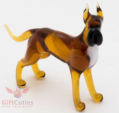 Art Blown Glass Figurine of the Great Dane dog