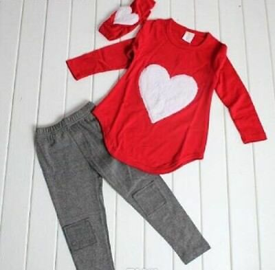 """Wholesale Job Lot 20 x NWT Girls RED 3 Piece Sets in a """"Lovehearts"""" Theme"""