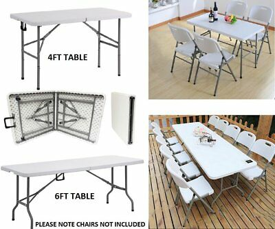 6ft Folding Table Trestle Camping Party Picnic BBQ Stall Graden Indoor