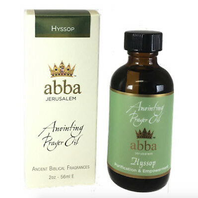 - Abba Anointing Oil - Hyssop - From Jerusalem - 2oz - BRAND NEW -