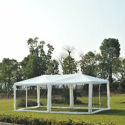 Outsunny 10 x 20ft Canopy Gazebo Party Tent sun shelter Easy Set w/ Mesh