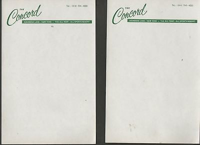 Concord Hotel  Stationary 6  Sheets Catskills Mtns.