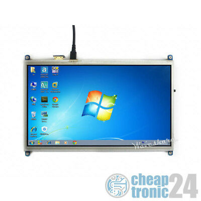"Waveshare 10,1"" Touchscreen Resistiv HDMI 1024×600 HAT für Raspberry Pi Display"