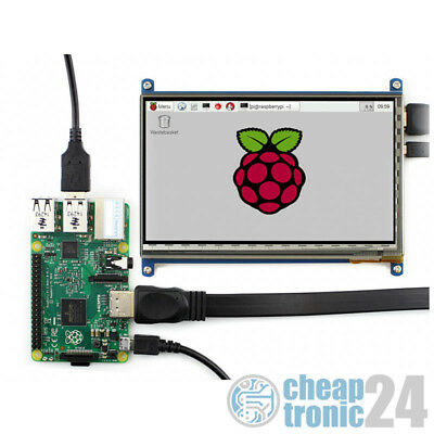 "Waveshare 7"" Touchscreen Kapazitiv HDMI 800×480 Raspberry Pi Display LCD"