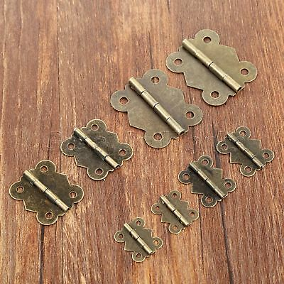 Vintage Dollhouse Cabinet Cupboard Jewelry Box Door Hinges Butterfly Hinge 10pcs