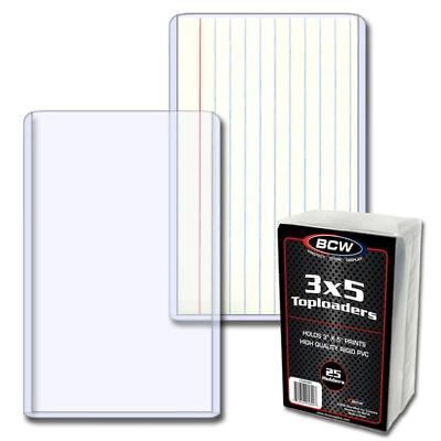 """(5) BCW TLCH-3X5 Clear Topload Index Cards Photo Holders Protection Fits 3""""x5"""""""