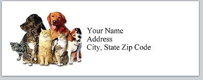 Personalized Address Labels Cute Dogs & Cats Buy 3 get 1 free (bx 226)