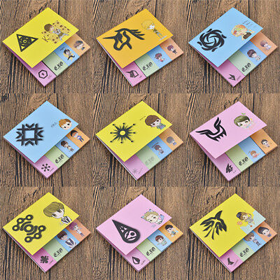 EXO Sticker Bookmark Fans Love Collections Kpop Art Characters Notes Stationery