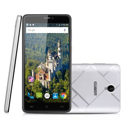 """CUBOT MAX 6,0"""" 4G LTE SmarWOhone Handy 32GB Octa Core Android 6.0 2* SIM Silber"""