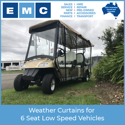 Throw Over Weather Curtains for 6 Seat Low Speed Vehicles
