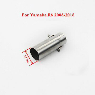 Motorcycle Modified Exhaust Middle Mid Tube Slip on Pipe For Yamaha R6 2006-2017
