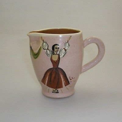 Martin  Boyd Handpainted Jug  Decorated  With  A Dancer
