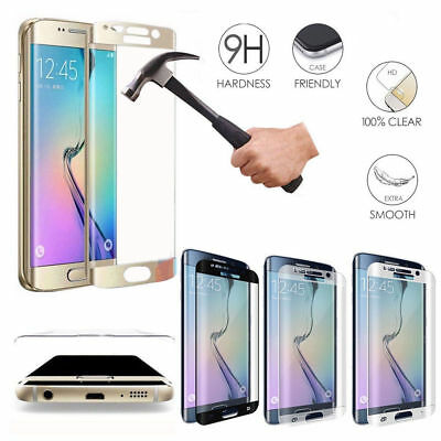For Samsung Galaxy S9 S7 Edge Curved Tempered Glass Screen Protector Film Lot H1