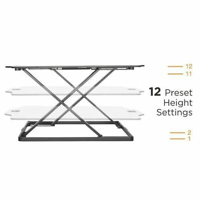 Premium Super-Slim Height Adjustable Standing Desk/Tabletop Stand,White,DWS08-01