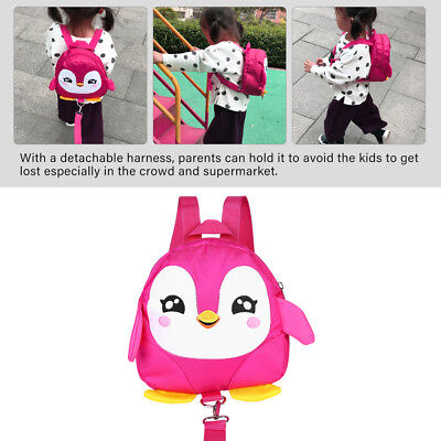 Cute Penguin Baby Safety Harness Backpack Toddler Anti-lost Bag Child Schoolbag