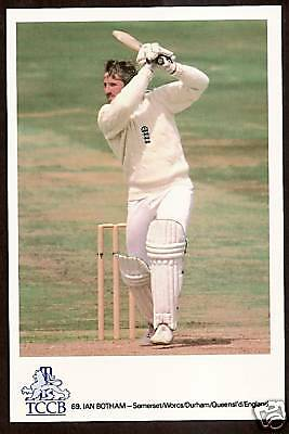IAN BOTHAM (Somerset Qld England) OFFICIAL TCCB CRICKET POSTCARD No 69