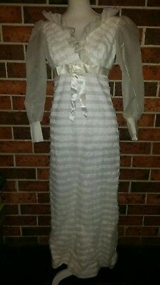 Vintage WEDDING DRESS 1960s Belvera Fashions Sydney Size 8