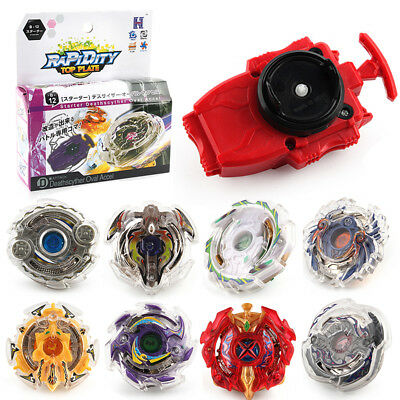 Burst Beyblade 3053 Series Rapidity Fight Spinning Top String Launcher Grip HE7