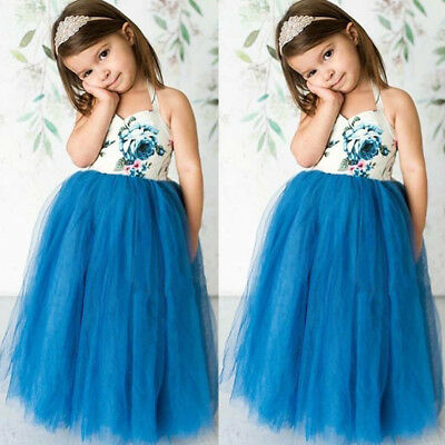 USA Newborn Baby Girls Tutu Lace Floral Dress Infant Toddler Skirt Party Clothes