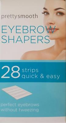 28 x Pretty Eyebrow Shaper Wax Strips Quick & Easy Unwanted Hair Remover