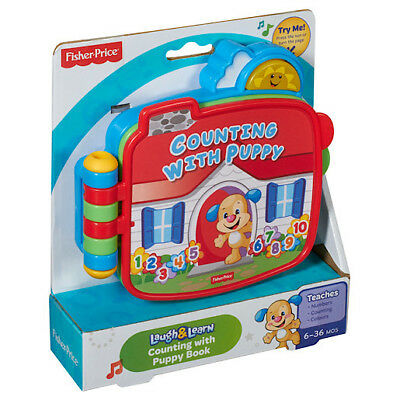 Fisher-Price Laugh & Learn Counting w/ Puppy Book Fun Baby Toy w/ Lights & Music