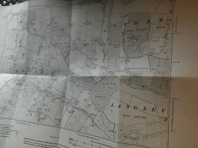 "Loose,otham,boughton Green Kent:vintage Planner's Map 6"" Scale:archive Stamp1934"